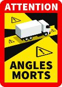 Autocollant angles morts poids lourds